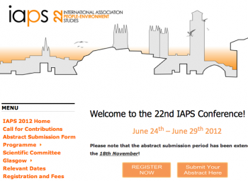 22nd IAPS Conference in Glasgow, June 24th-29th 2012